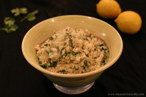 "Lemon Parsley ""Couscous"" - Amanda Naturally"