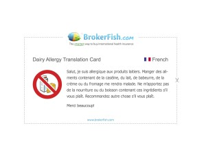 Allergy Dairy French