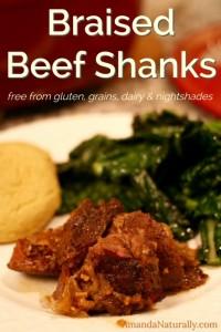 Braised Beef Shanks | paleo, AIP | AmandaNaturally.com