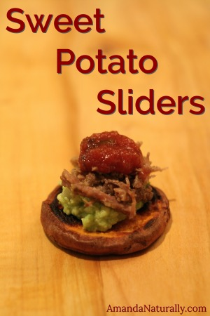Sweet Potato Sliders | AmandaNaturally.com