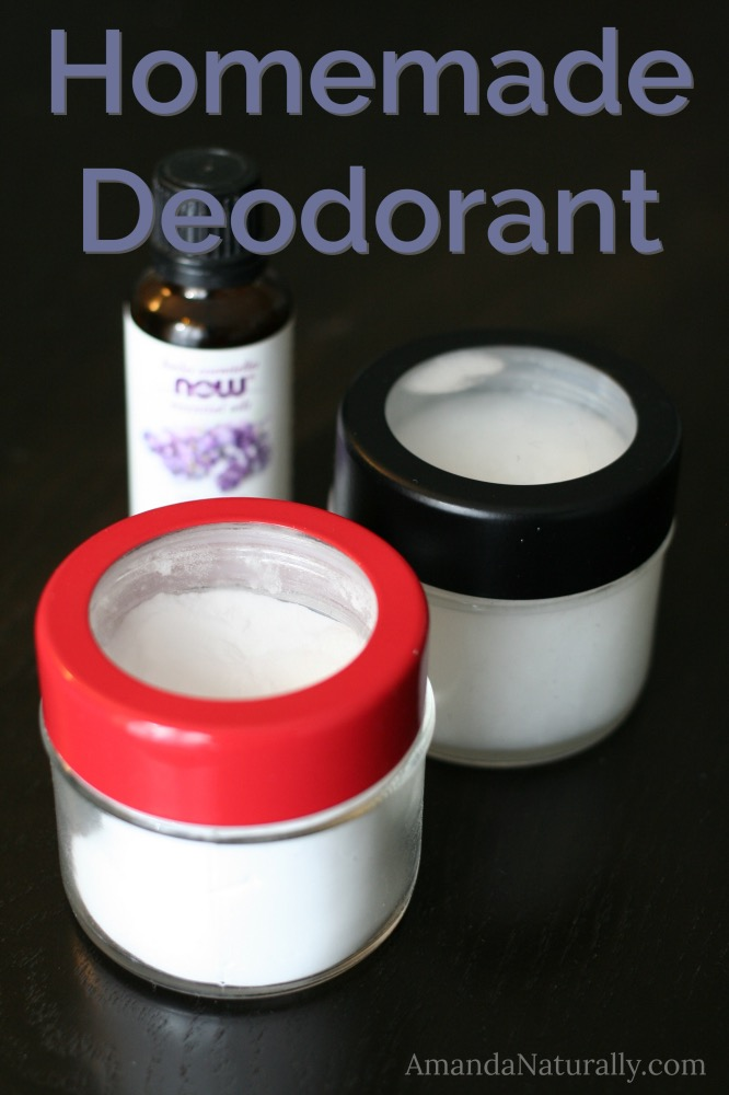 Homemade Deodorant | AmandaNaturally.com