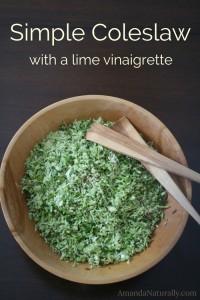 Simple Coleslaw with a Lime Vinaigrette | vegan, grain free, AIP | AmandaNaturally.com