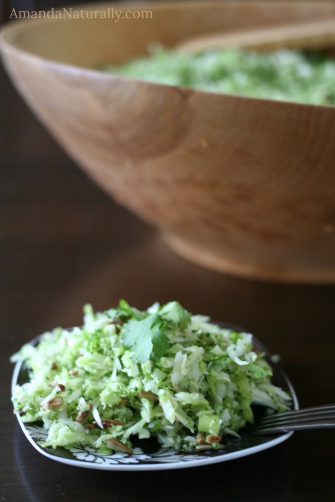 Simple Coleslaw with a Lime Vinaigrette | vegan, grain free, AIP | AmandaNaturally.com