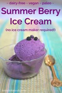 Summer Berry Ice Cream | dairy free | vegan | paleo | AmandaNaturally.com