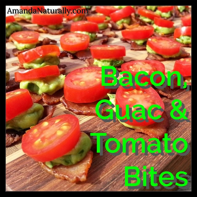 Bacon, Guac & Tomato Bites   AmandaNaturally.com