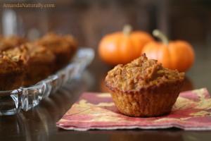 Pumpkin Spice Muffins | grain free, gluten free, nut free | AmandaNaturally.com