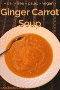 Ginger Carrot Soup | dairy free, paleo, vegan | AmandaNaturally.com