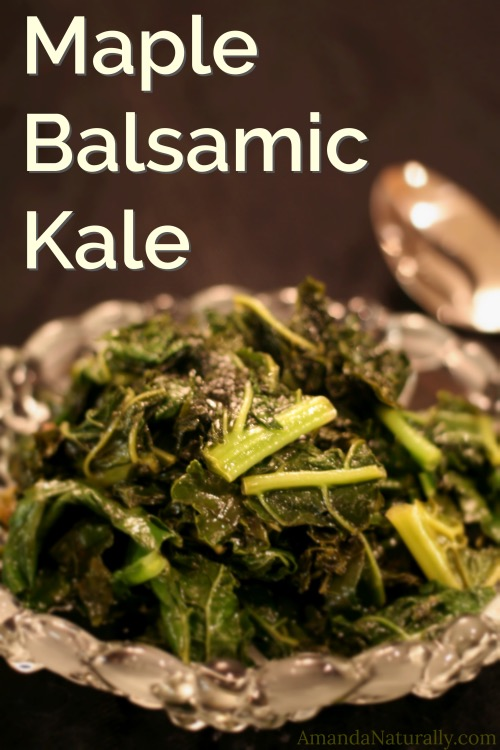 Maple Balsamic Kale | vegan , paleo, AIP, delicious | AmandaNaturally.com