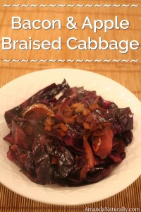 Bacon & Apple Braised Cabbage | AmandaNaturally.com