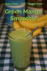 Green Mango Smoothie | AmandaNaturally.com
